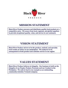 Mission, Vision & Values